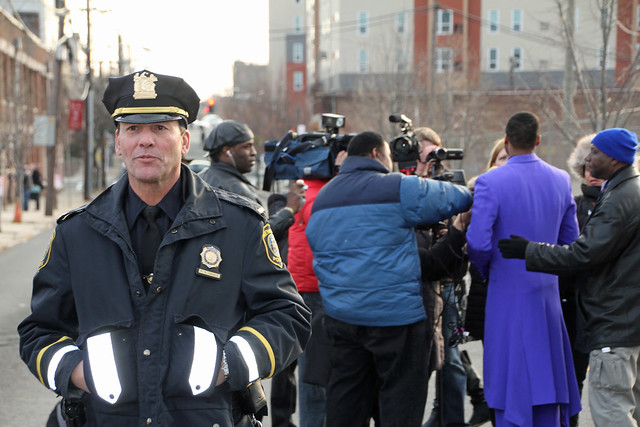 Journalists interviewing Jaheim after Whitney Houston funeral