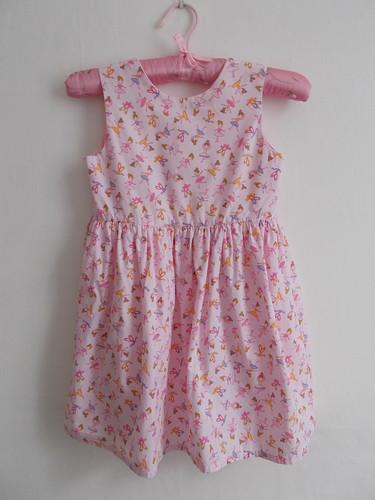 Pink ballerina print dress