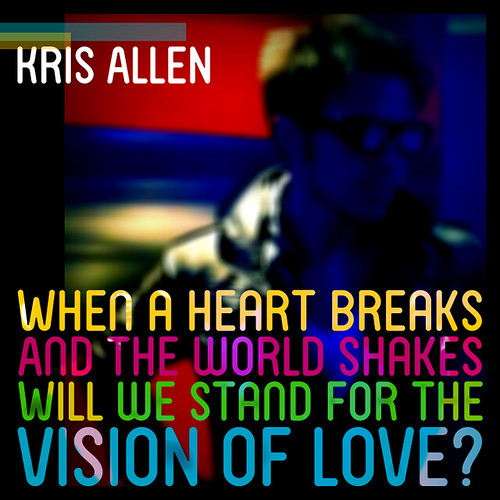 Fan made Kris Allen Stand for the Vision of Love lyric art