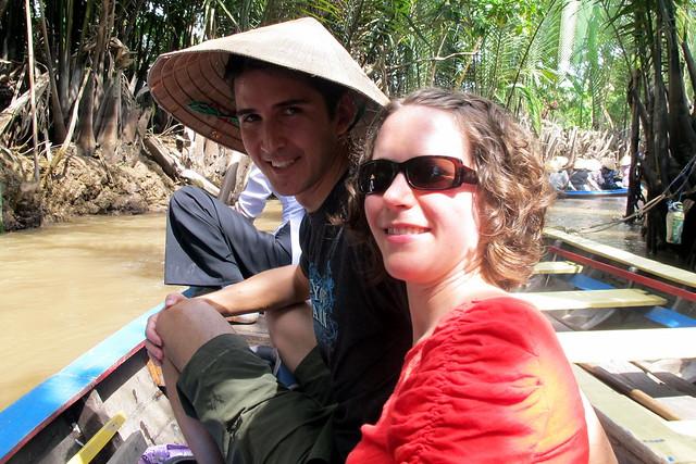 Chris and Emily on the Mekong