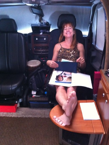 2-22-12 Roberta relaxing in RV