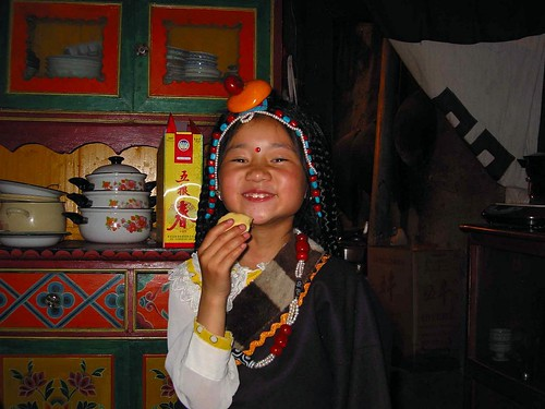 Tibet young girl by Africasiaeuro