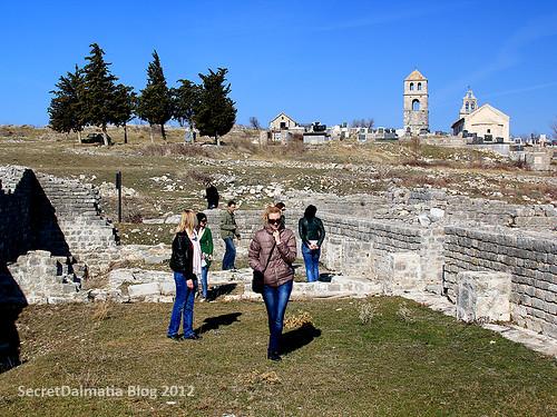 Medieval section of Bribirska glavica