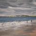 Janet E Davis, Alnmouth beach, 1996-98, oil on canvas.
