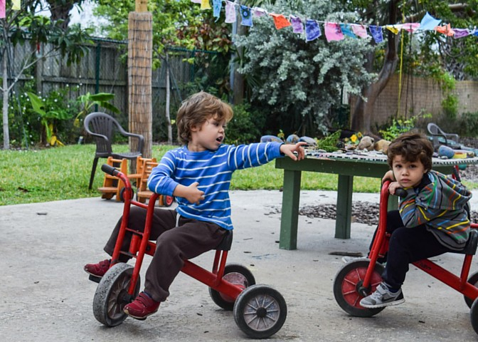 Kids on trikes