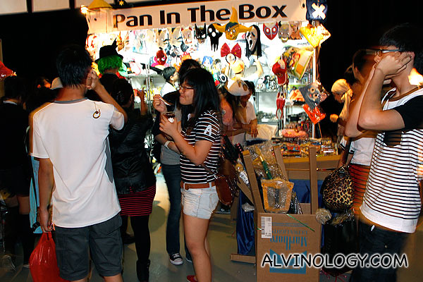 Booth selling cosplay items