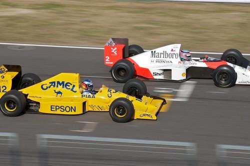 Lotus 101 and McLaren MP4/5
