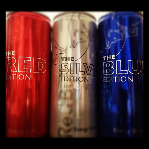 Red Bull: Red-, Silver- & Blue-Edition