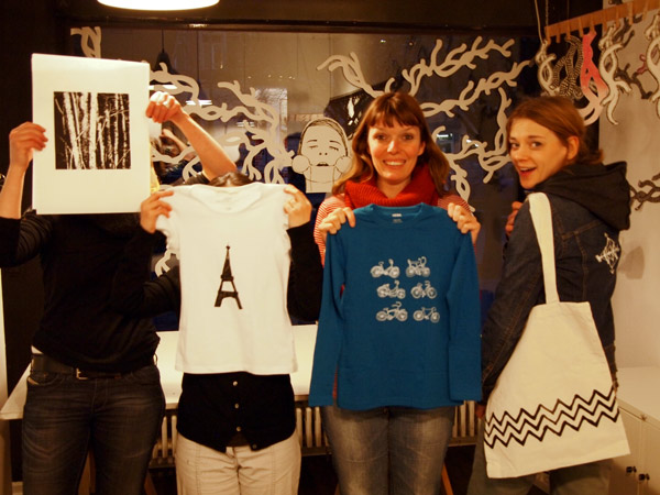 Siebdruckworkshop in Berlin - group picture