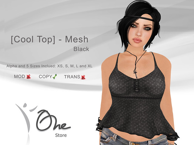 [Cool Top] Black
