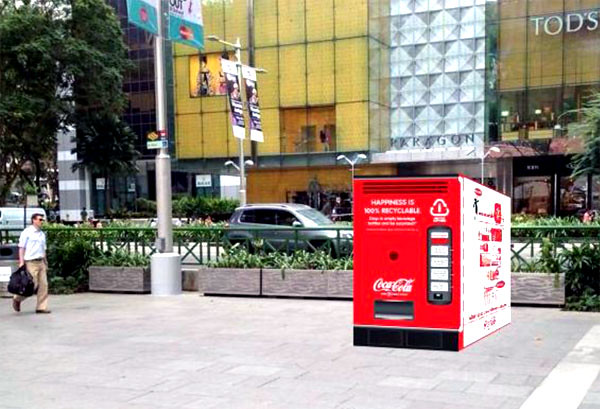 Coca-Cola Singapore's Recycle Happiness Machine