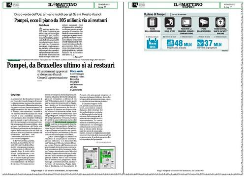 POMPEI - Ecco il piano da 105 million: via ai restauri. IL MATTINO (30/03/2012), p. 57. by Martin G. Conde
