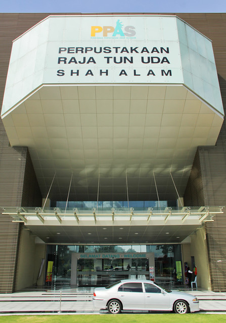 The entrance of the Raja Tun Uda Library