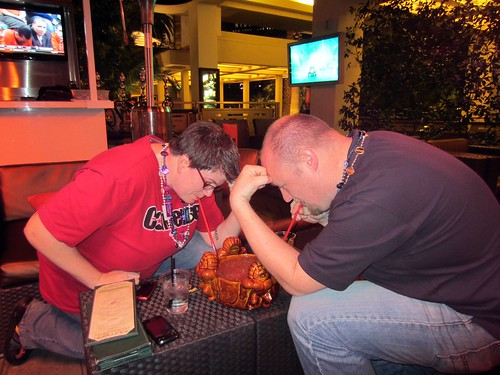 tebowing with the scorpion bowl