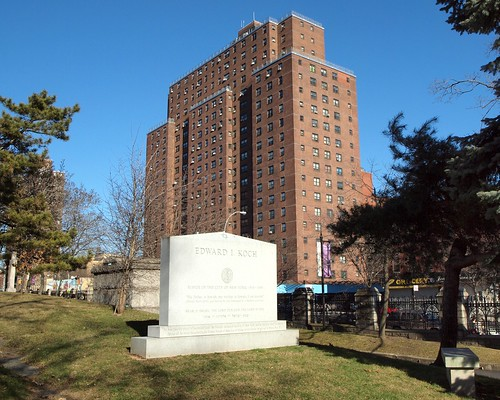 Mayor Edward I. Koch Headstone, Trinity Church Cemetery, New York City