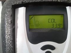 Collector aardig op temperatuur