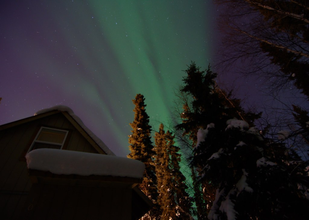 At home under the northern lights