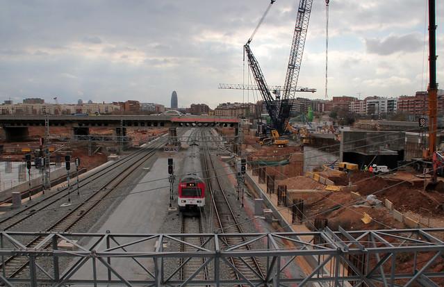 Desmontaje Pont del Treball 2 - Nueva grúa - 17-02-12