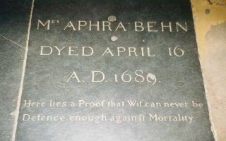Aphra Behn's gravestone