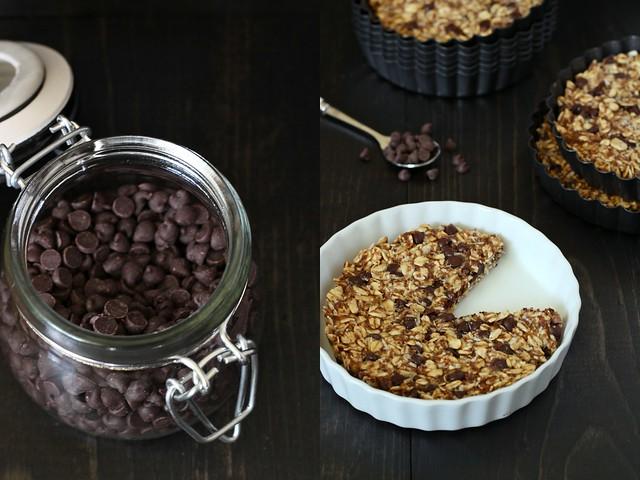 Chocolate oatmeal tartlets