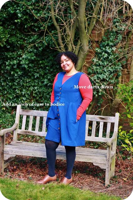Darling Ranges Dress, wearable muslin
