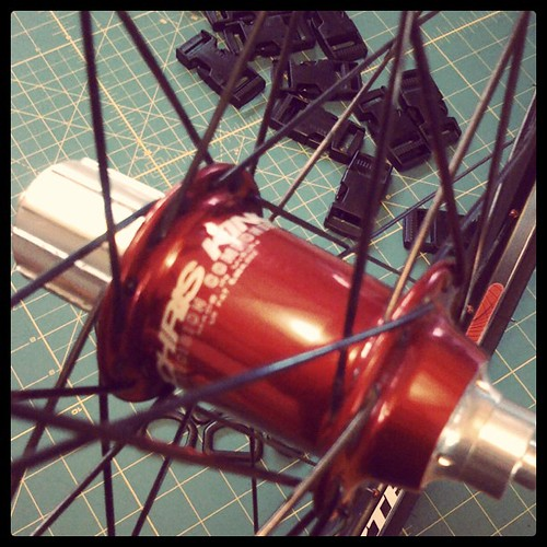 Chris King red hubs by Archive Victor