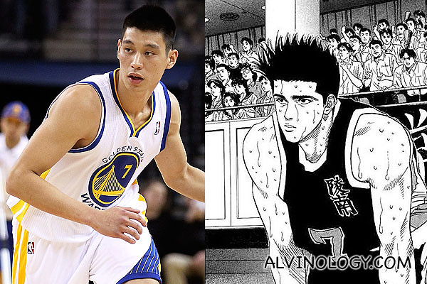 Akira Sendo on the left; Jeremy Lin on the right?