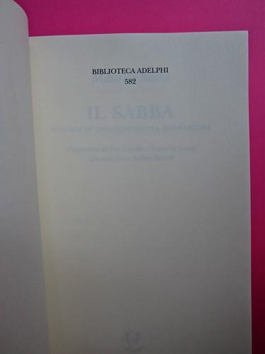 Maurice Sachs, Il Sabba, Adelphi 2011. [Resp. grafica non indicata]. Pagina dell'occhiello (part.), 1