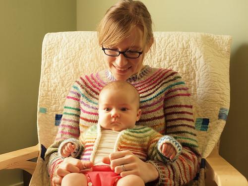 mama + daughter + stripes!