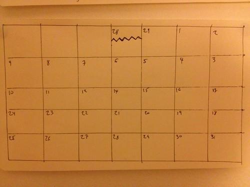 #b03 blogging habit calendar
