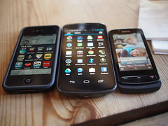 iPhone 4 (with bumper), Galaxy Nexus, Nokia 700