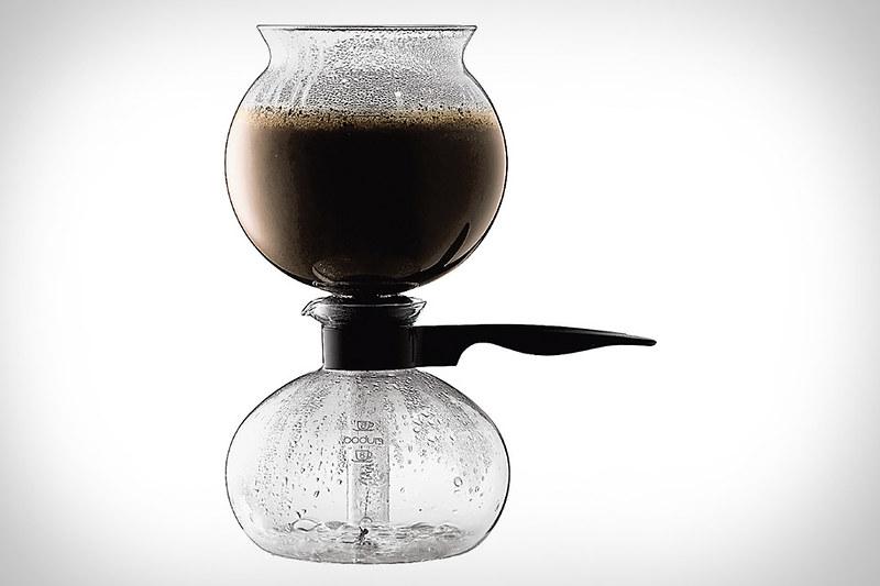 Bodumn Pebo Vacuum Coffee Maker, 8 Cup, 10 L, 34 Oz Black