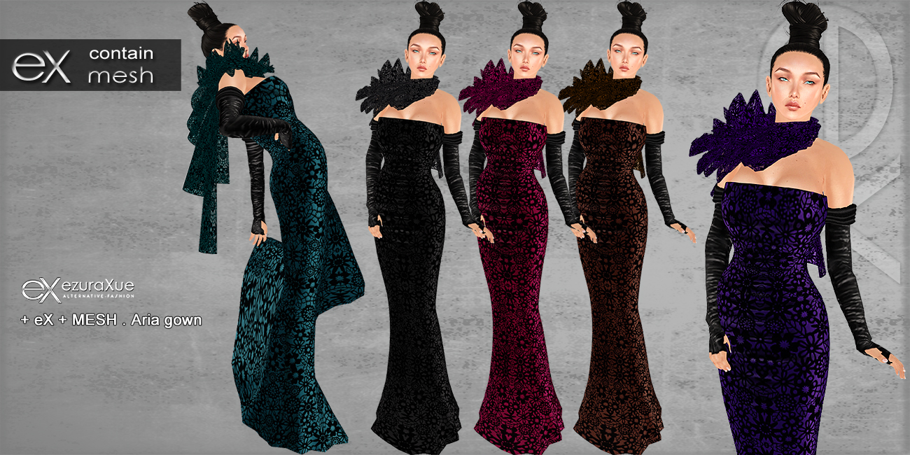 + eX + MESH . Aria Lace Gown