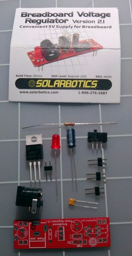 solarbotics breadboard voltage kit contents