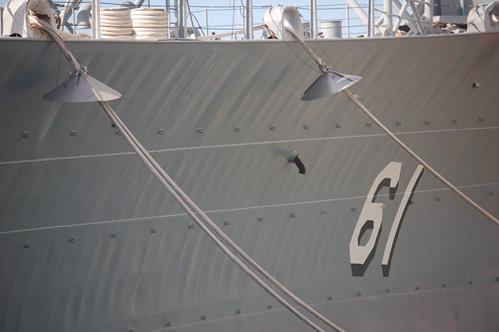 USS Iowa rat guards