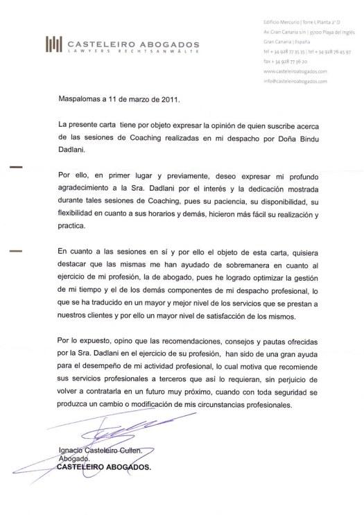 Carta Recomendación Casteleiro Abogados