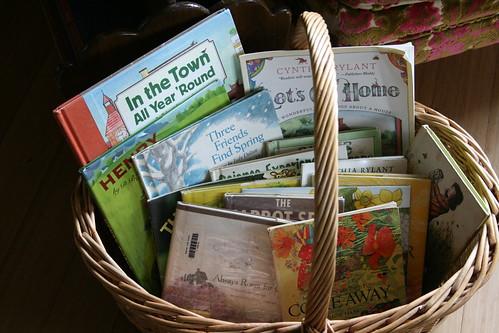 spring book basket
