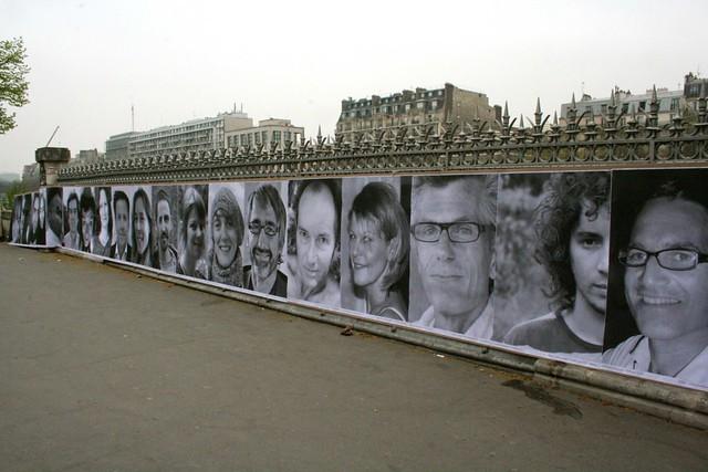 Photographs along canal near Bastille
