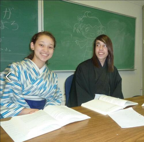 Chantel and I Kimono Pitt 2011