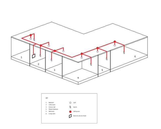 lighting circuit diagram for building construction