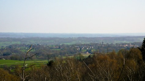 View on rural landscape