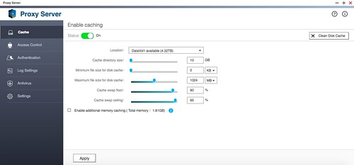 Proxy Server บน QTS 4.2.1