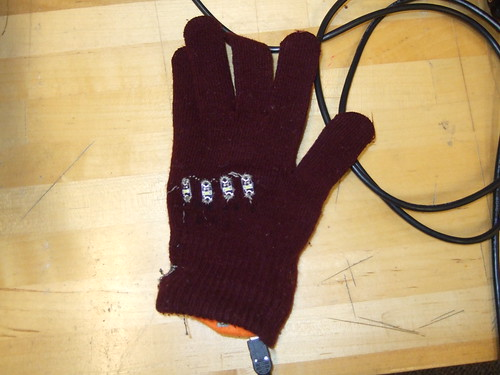 KNight Riders' Glove - when sensor is not pressed