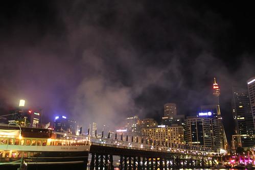 Darling Harbour post fireworks