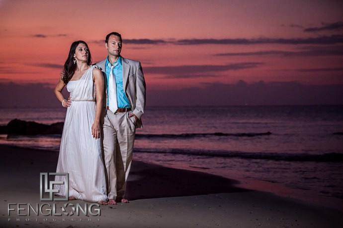 Sunrise Bride & Groom Portrait on the Beach | Jessica & John's Destination Wedding | Playa del Carmen, Mexico | Riviera Maya Quintana Roo Destination Wedding Photographer