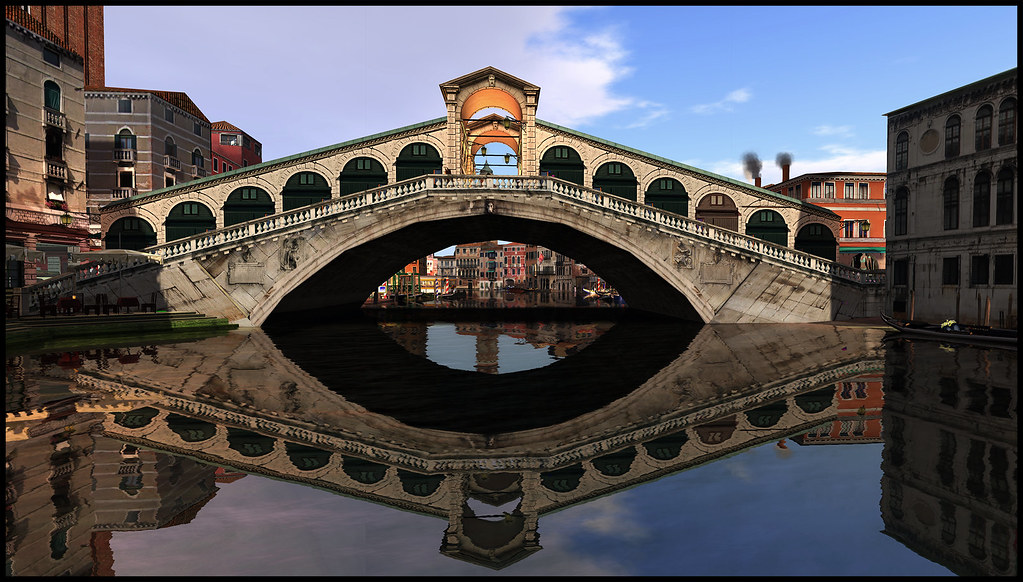 Rialto Bridge on the Prada sim in Second Life