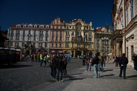 A square in Prague