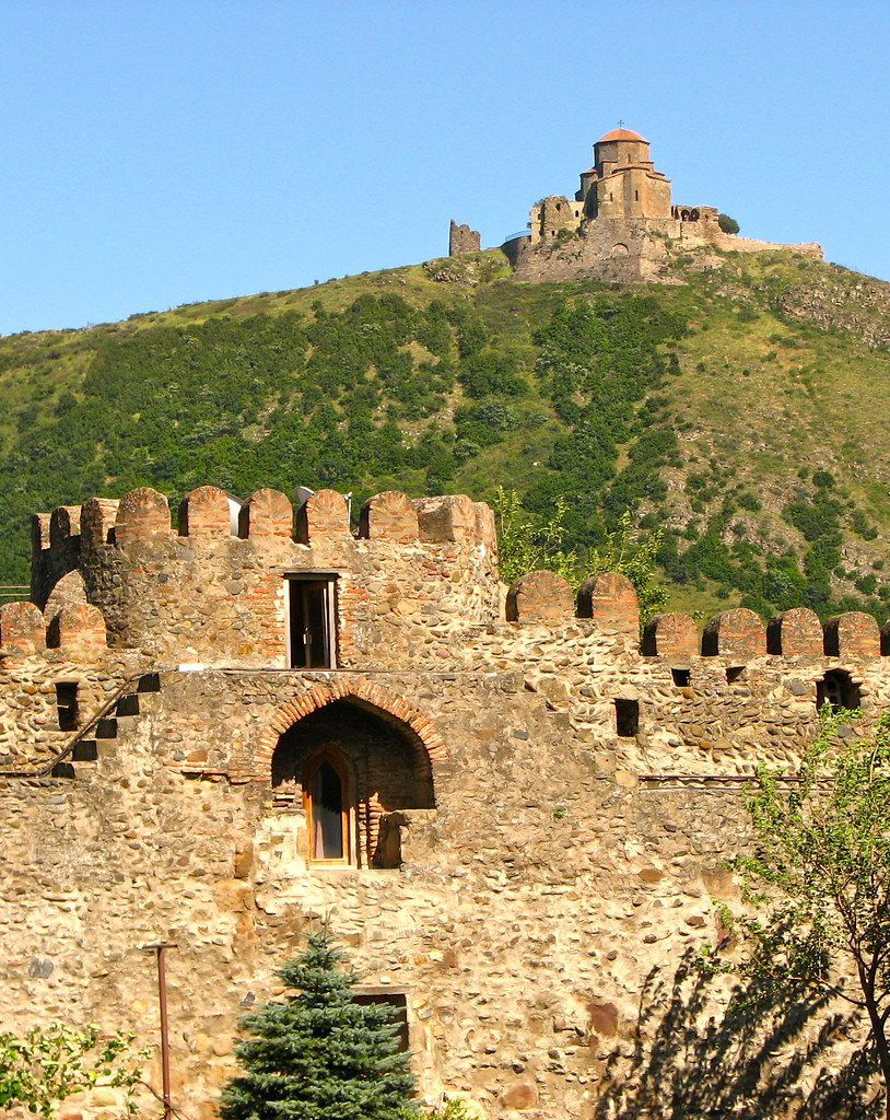 Medieval walls of Jvari Church Tbilisi