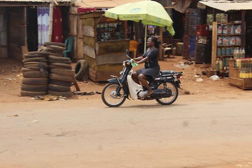 Iheaka Enugu Nigeria Female Motorcyclist. by Jujufilms