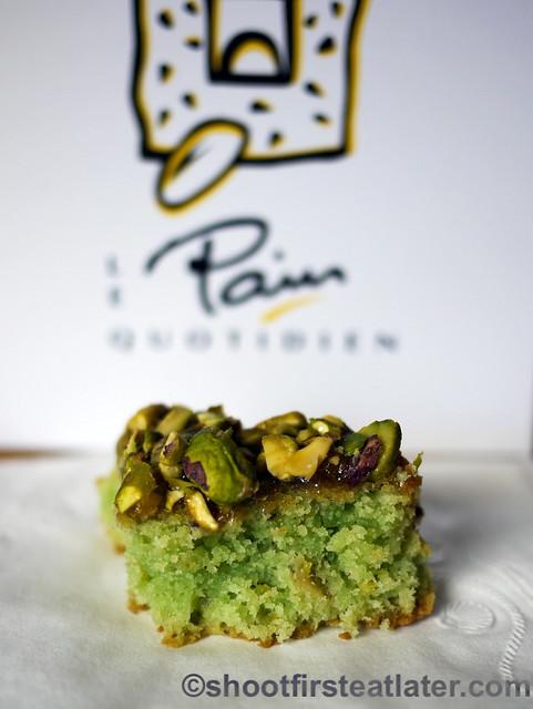 Le Pain Quotidien - pistachio tart